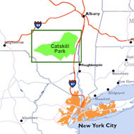catskill mountains map