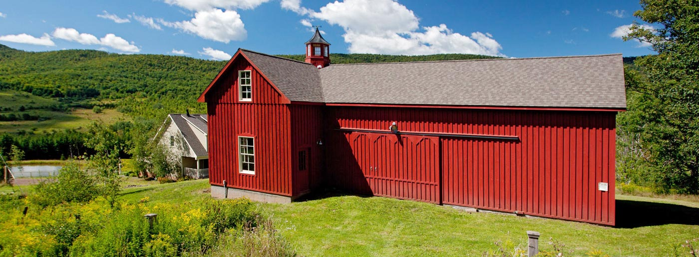 Catskills Red Barn with View